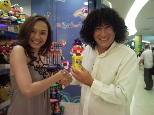 magician with the funkiest hair award tony hassini with magic babe ning
